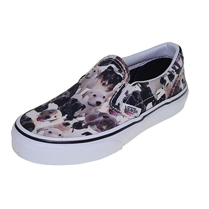 Vans Kids Unisex Classic Slip-On ASPCA Puppies/True White Sneaker