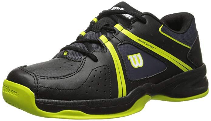 Wilson Envy JR Tennis Shoe (Little Kid/Big Kid), Coal/Black/Solar Lime, 12 M US Little Kid