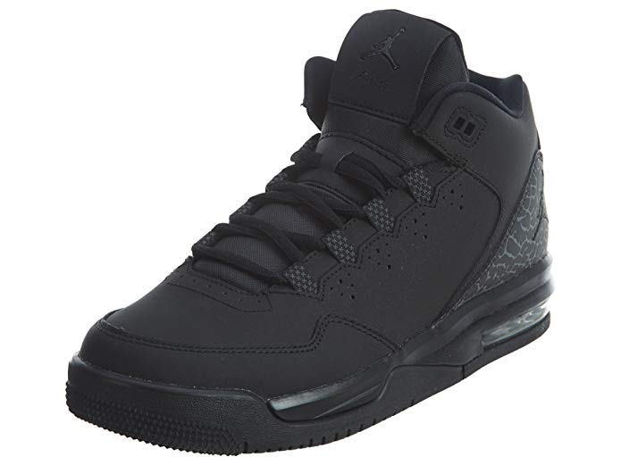 NIKE Jordan Kids Jordan Flight Origin 2 BG Black/Black/Dark Grey Basketball Shoe 5.5 Kids US
