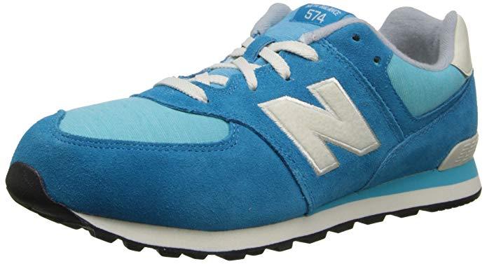 New Balance KL574 Lace-Up Grade Pennant Running Shoe (Big Kid)