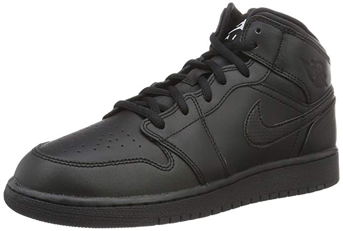 NIKE Youth Air Jordan 1 Medium Leather Trainers