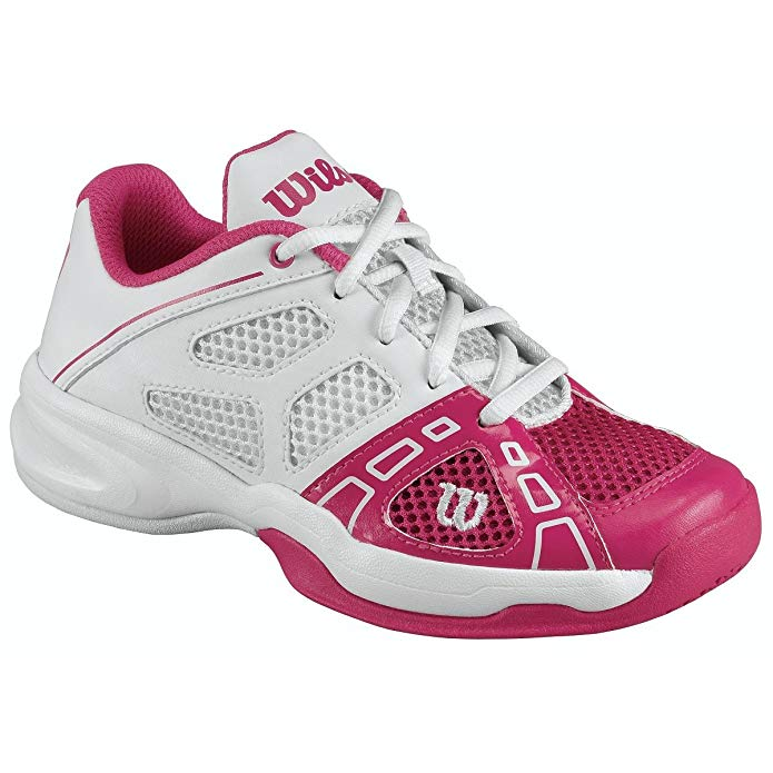 Wilson Rush Pro JR. Youth Tennis Shoe - Hottest Pink/White