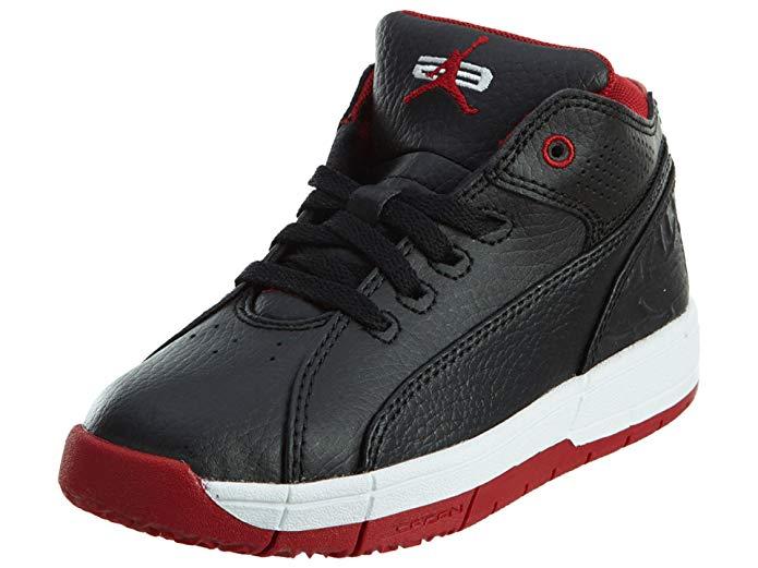 JORDAN Ol'school Low Bg Big Kids Style, Black/Gym Red/White, 2.5