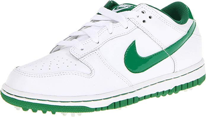 NIKE Golf Boys' Dunk NG Lace-Up, White/Pine Green, 3 M US Little Kid