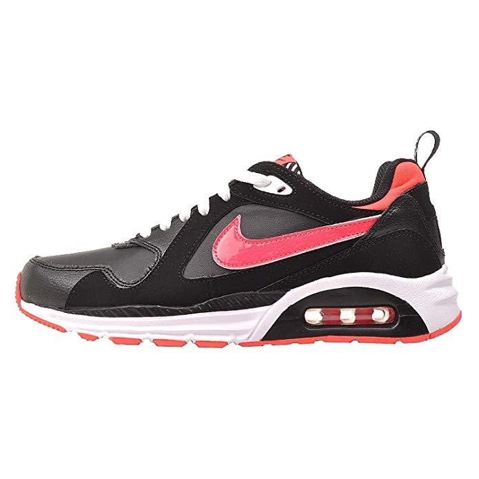 Nike Girls Air Max Trax Black Hyper Punch White Running Shoes