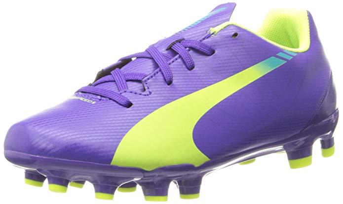 PUMA Evospeed 5.3 Firm Ground JR. Soccer Shoe (Little Kid/Big Kid)