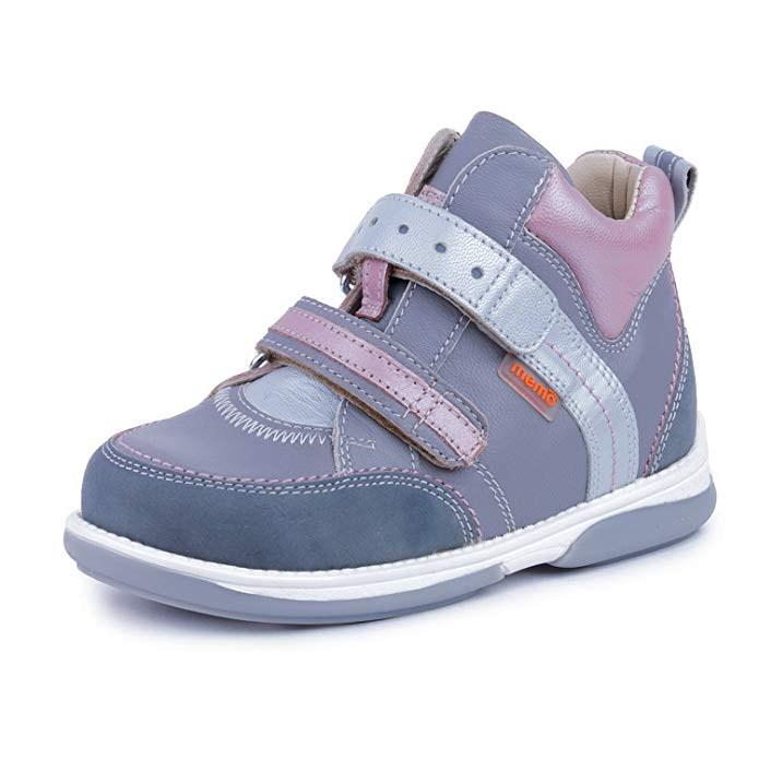Memo Polo 3JD Diagnostic Sole Ankle Support Girl's Orthopedic Leather Sneaker (Toddler/Little Kid)