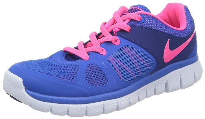 Nike Kids Flex 2014 RN (GS) Hypr Cblt/Hypr Pnk/Dp Ryl Bl/W Running Shoe 7 Kids US