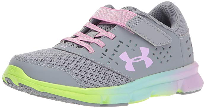Under Armour Kids' Girls' Pre School Rave Prism Adjustable Closure Running Shoe