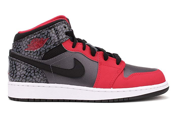 Nike Air Jordan 1 Mid (GG) Girls Basketball Shoes 555112-019