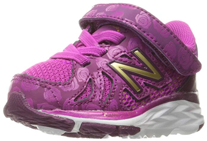 New Balance Kids' 790 V6 Disney's Belle of The Ball Hook and Loop Running Shoe,