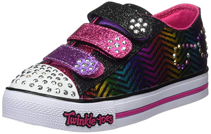 Skechers Girls' Twinkle Toes Step Up Sparkle Spice Sneaker